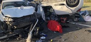 Çorlu'da kaza: 1 ölü, 4 yaralı