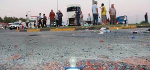 Manavgat'ta tur midibüsü kaza yaptı: 19'u İsrail uyruklu turist 21 kişi yaralandı Kaza sonrası can pazarı yaşandı Yaralılara ilk müdahale olay yerinde yapıldı
