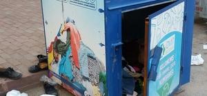 İzmit'te tekstil kumbaralarına verilen zarara tepki