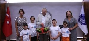 LÖSEV gönüllüleri Başkan Çelik'i ziyaret etti