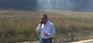 """Bursa'daki orman yangını devam ediyor Başkan Aktaş: """"Yanlış yapan varsa sonucuna katlanır"""""""