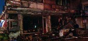 Kastamonu'da bir markette yangın çıktı Yangın sonucu market kullanılamaz hale gelirken, 2 ev de zarar gördü