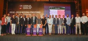 Kadınlar Basketbol Süper Ligi'nin 2018-2019 Sezonu fikstürü belli oldu