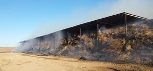 Kulu'da saman balyaları yandı