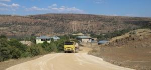 Tunceli'de grup köy yollarında çalışma