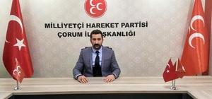 """MHP İl Başkanı Kaynar'dan dolar açıklaması MHP Çorum İl Başkanı Arslan Kaynar; """"Ederi bir dolar olan hainlerin dolarla gider yapmaya kalkmaları asla unutulmayacak"""""""