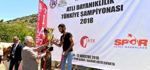 Atlı Dayanıklılık Yarışları Türkiye Şampiyonası Isparta'da tamamlandı