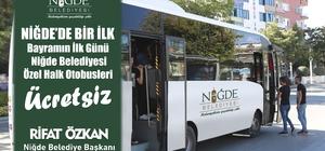 Niğde'de Bayramın ilk günü otobüsler ücretsiz