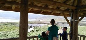 Çıldır kuş gözetleme kulesine yoğun ilgi
