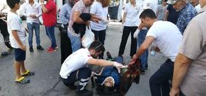 Gebze'de hafif ticari aracın çarptığı 2 kişi yaralandı Araç sürücüsü gözaltına alındı