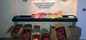 Alanya'da 334 kilogram kaçak nargile tütünü ele geçirildi
