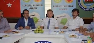"""Coğrafi işaret alınan Karyağdı armudunun geleceği tartışıldı ATB Başkanı Ali Çandır: """"Türkiye'de Üretilen Her 6 Kilogram Armudun 1 Kilogramı Korkuteli'nde Üretiliyor  """" Korkuteli Kaymakamı Tanrıkulu: """"Kaliteli Ürün Yetiştirip, Pazarlama Yapacağız"""""""