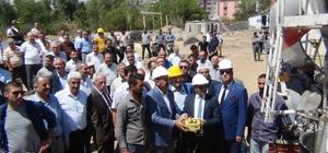 Ercişli İş İnsanı Halis Bahçe'den krize rağmen yatırım atağı 100 Daireli Halis Bahçe şehir yaşam konutlarının temeli atıldı