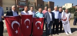 """Darbe teşebbüsünün karar davası öncesi basın açıklaması yapıldı Sakarya 15 Temmuz Milli İrade Derneği Başkanı Ali İnci: """"Bu ülke üzerinde ezanları susturamayacaklar ve bayraklarımızı indiremeyecekler"""""""