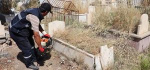 Siirt'te mezarlıklar bayrama hazır