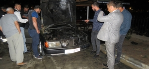 Park halindeki otomobilde yangın Konya'nın Beyşehir ilçesinde park halindeki otomobilde çıkan yangın cep telefonuyla görüntülendi
