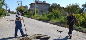 Şuhut'ta kanalizasyon ve yağmur suyu hatlarında temizlik çalışmaları