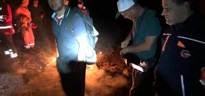 Dağda mahsur kalan 3 kişiye kurtarma operasyonu