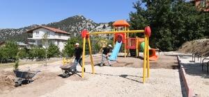 Konyaaltı Belediyesi'nden Geyikbayırı'na yeni park