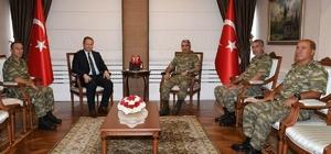 3. Ordu Komutanı Savaş, Trabzon Valisi Yavuz'u ziyaret etti