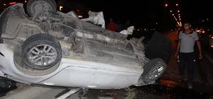 Taklalar atan otomobilden burnu bile kanamadan çıktı
