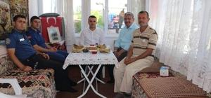 Altıntaş protokolünden Kıbrıs gazisine bayram ziyareti