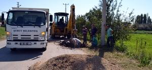 Şuhut'ta su arıza ekipleri çalışmalarına devam ediyor
