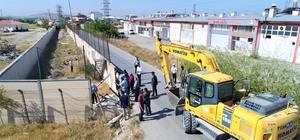 Kalecik TOKİ'de yol genişletme çalışması