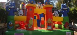 Alanya'nın dev balon parkı yenilendi