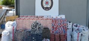 Duvarın içindeki bölümden 30 bin paket kaçak sigara çıktı Polisten kaçak sigara operasyonu Fırın ve yiyecek kutularından kaçak sigara çıktı Kaçak sigara operasyonu polis kamerasında