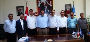 Vali yardımcıları ve kaymakamlardan Başkan Berge'ye ziyaret