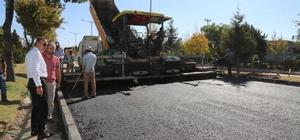 Aksaray Caddesinde asfaltlama çalışmaları başladı