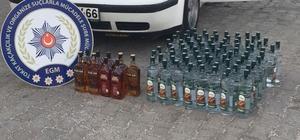 Otomobilden 89 şişe kaçak alkol çıktı