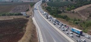 Bursa'da bayram tatili yoğunluğu havadan görüntülendi Bayram tatili sebebiyle İstanbul ve Bursa'dan güneye doğru trafik yoğunluğu İHA ekibi tarafından havadan görüntülendi