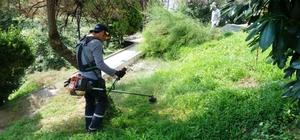 İzmit Belediyesi'nden park ve yeşil alanlarda bakım çalışması