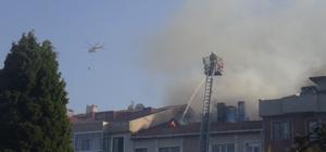 Çanakkale'de otluk alanda çıkan yangın evlere zarar verdi