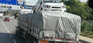 Eskişehir trafiğinde ilginç görüntü