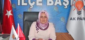 """AK Parti Harran İlçe Kadın Kolları Başkanı Huriye Biter: """"Bayramlar  sevgidir, hoşgörüdür, kenetlenmedir"""""""
