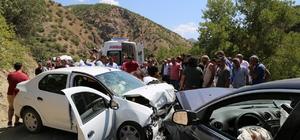Tunceli'de trafik kazası: 1 ölü, 7 yaralı