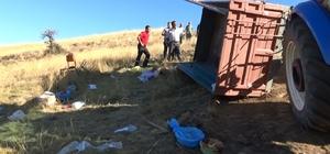 Piknik yolunda traktör devrildi: 25 yaralı