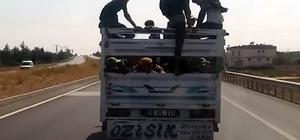 Gaziantep'te kamyonların tehlikeli yolculukları