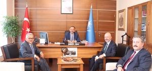 Metropol ilçe belediye başkanlarından Özhaseki'ye ziyaret