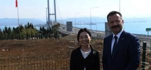 Japonya Prensesi Osmangazi köprüsünde hatıra fotoğrafı çekildi