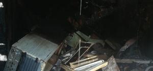 Feke'de ev ve iş yeri yangını