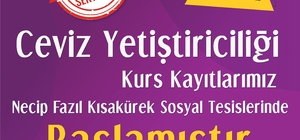 Melikgazi Belediyesi 'Ceviz Yetiştiriciliği' kursu açtı