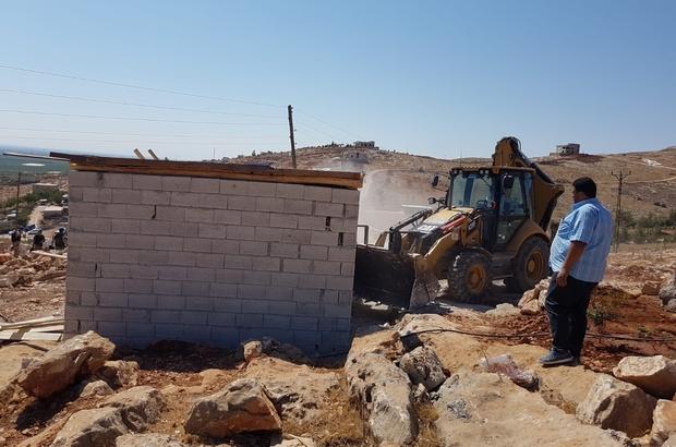 Eyyübiye'de 14 kaçak yapının yıkımı gerçekleşti