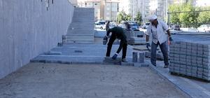 Hoca Ahmet Yesevi Caddesinde Çevre Düzenlemesi
