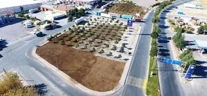 Melikgazi Anbar Mahallesi'nde 12 bin metrekarelik alanı çimlendirdi