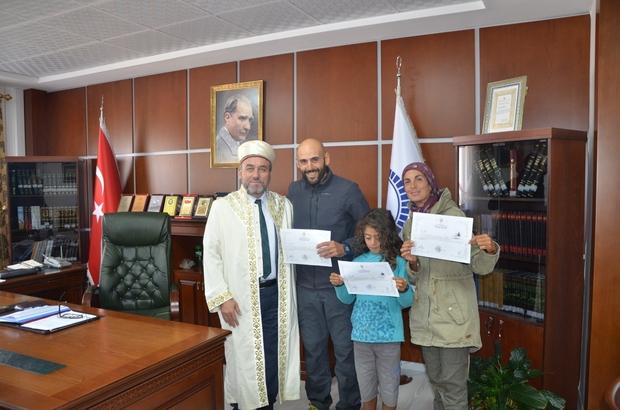 Tatil için geldikleri Kapadokya'da Müslüman oldular Arjantinli aile Müslüman oldu