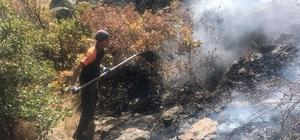 Aksaray'da orman yangını Dün başlayan ve söndürülen orman yangını bugün bilinmeyen bir nedenle 250 hektarlık alanda tekrar çıktı